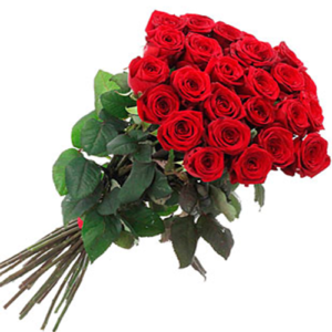 24 rose rosse red Naomi stelo medio/alto