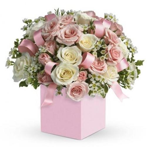 Box/Scatola scatola fiori misti