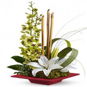 composizione stilizzata fiori misti