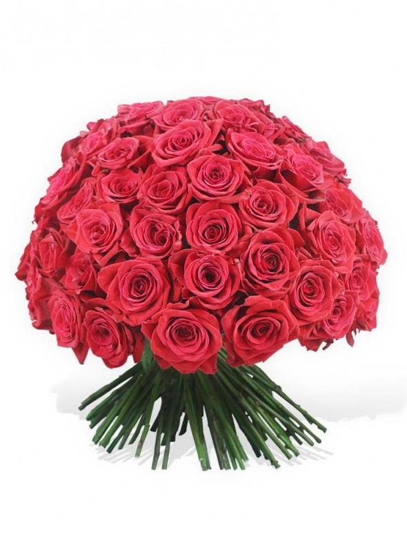 Bouquet elegante rose rosse