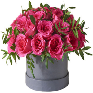 Box/Scatola cappelliera con 25 rose